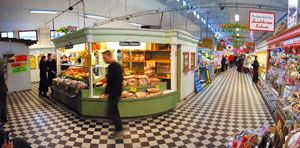 The kauppahalli in Pori, where one can find affordable groceries, presents, and snacks