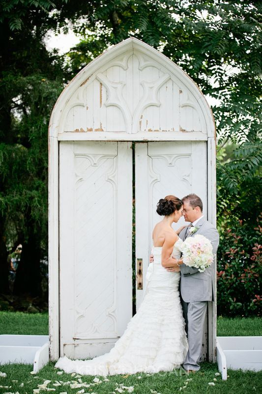 This elegantly sacred and beautiful antique church door can be your wedding…