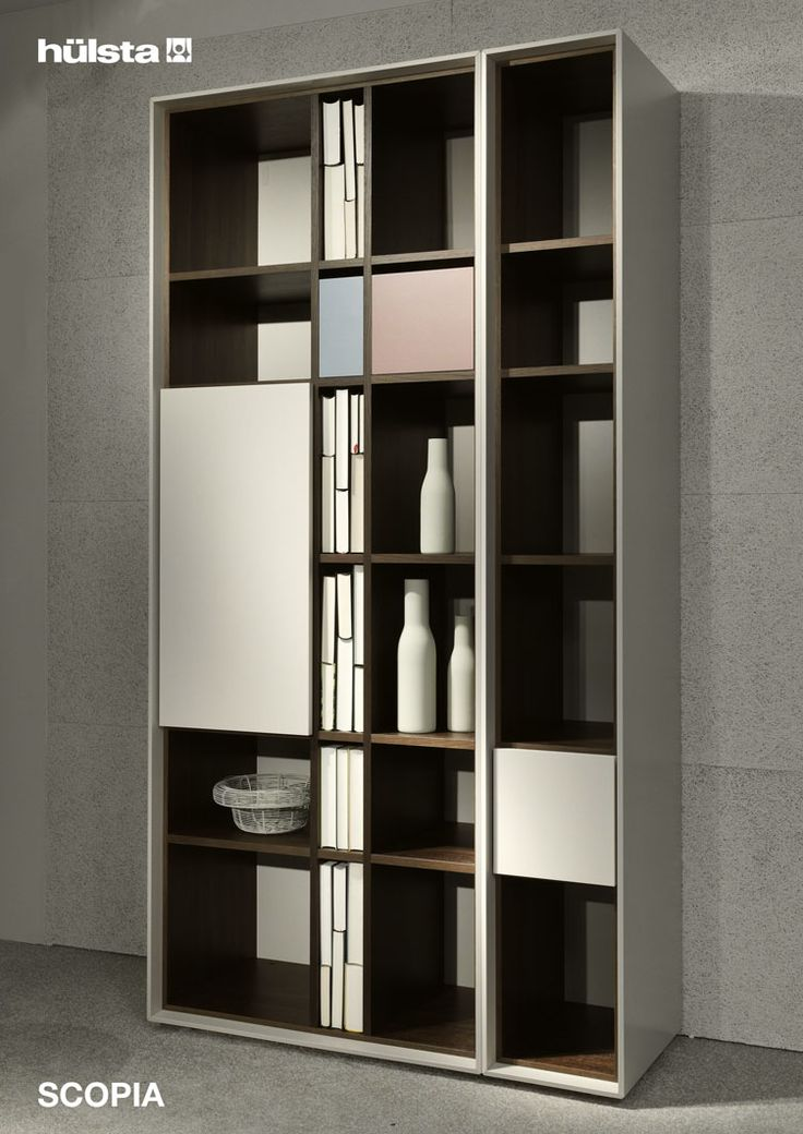 Boekenkast Estante Bookcase Brown and White 0210
