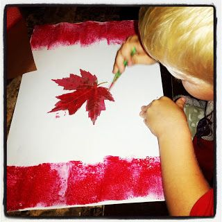 Annie's Adventures In Homeschooling! Canada Day craft!