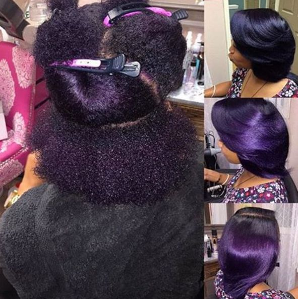 Crushin' on This Violet Silk Press @voiceofhair - http://community.blackhairinformation.com/hairstyle-gallery/natural-hairstyles/crushin-violet-silk-press-voiceofhair/