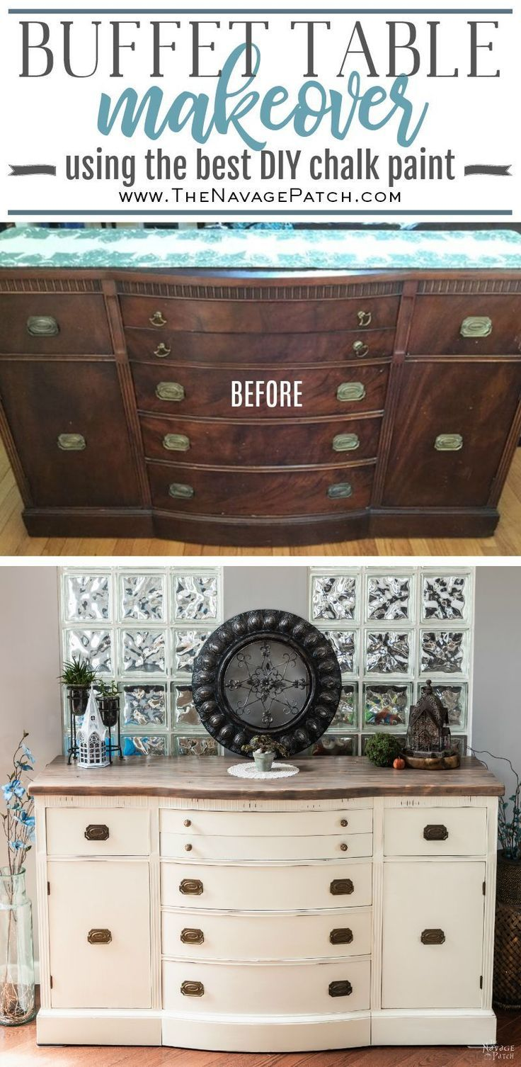 Makeover How To Paint A Buffet Table