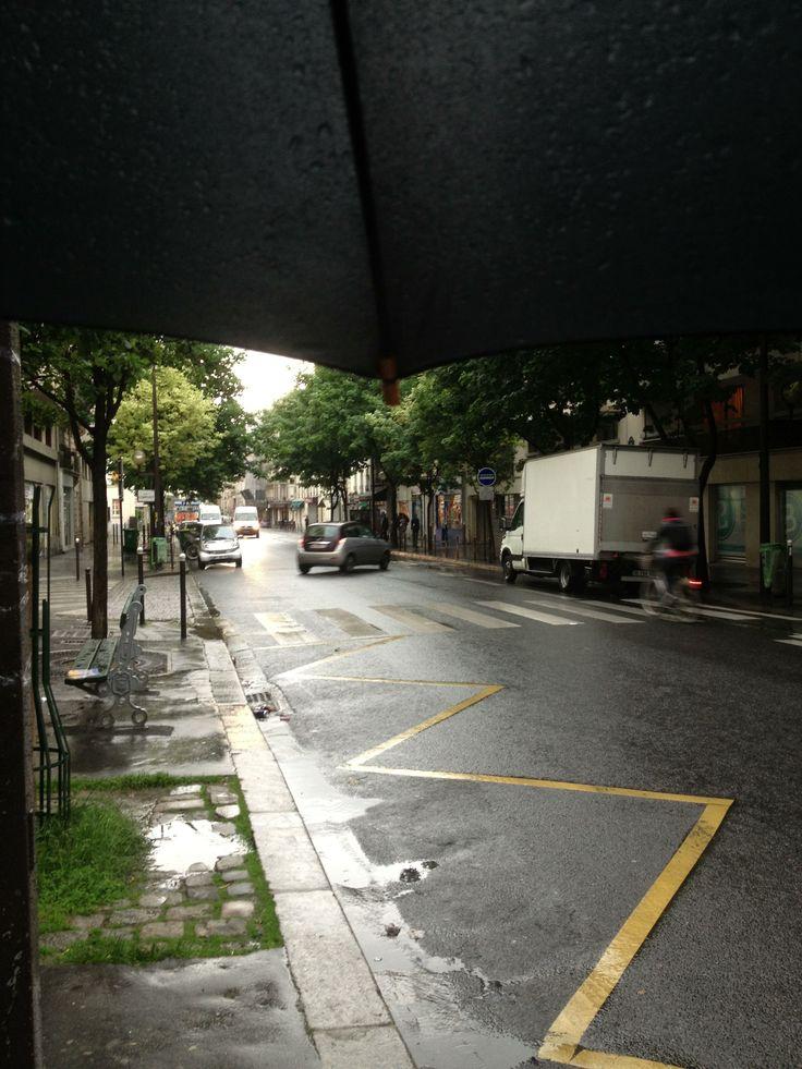 Paris pluie de Juin 2013