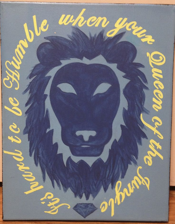 ADPi Big Little Crafts! Its hard to be humble when your Queen of the Jungle!!