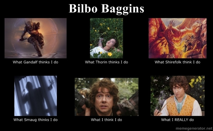 Bilbo Baggins... The Hobbit fandom needs more memes and Tumblr posts. Really.