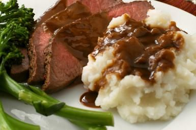 Pan Gravy for Roast Beef: Beef With Pan Gravy