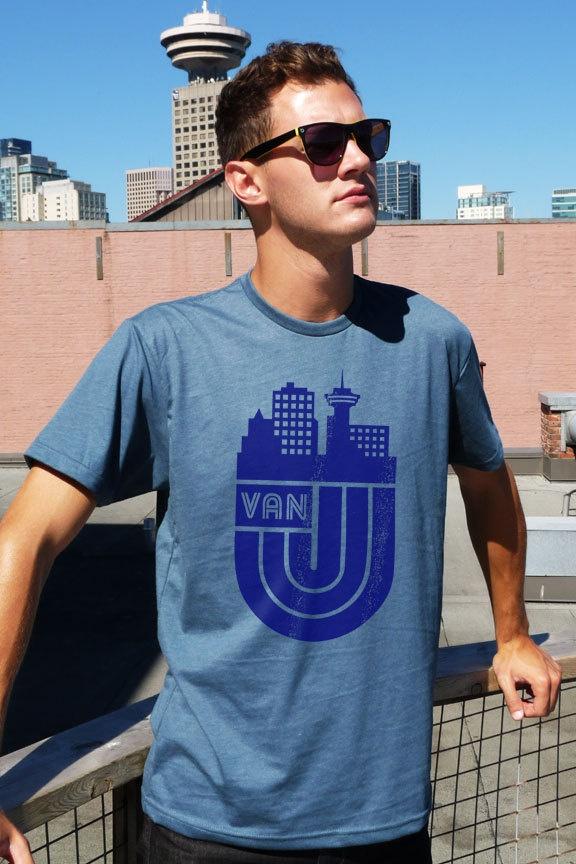 VanCity Retro Style Tee (Blue Steel). $30.00, via Etsy.