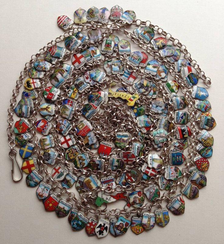 eCharmony Charm Bracelet Collection - Italy City shield charm necklace