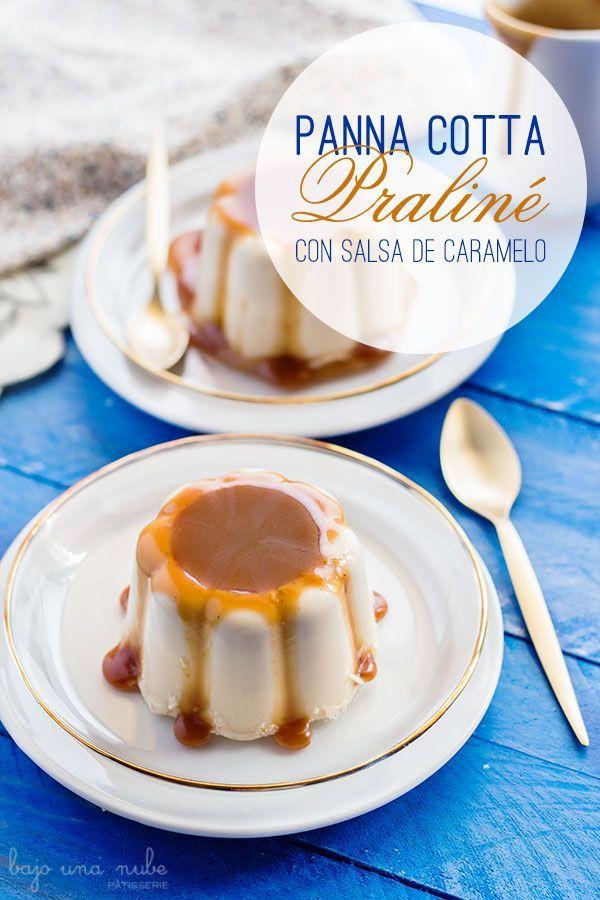 Si buscas un postre para sorprender con poco esfuerzo, la Panna cotta praliné con salsa de caramelo es para ti. Encantará a pequeños y mayores.
