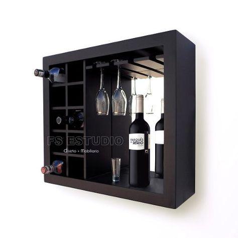 Cava cantina mueble contemporane para vinos copas de - Estantes para vinos ...