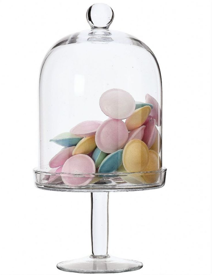 Glass cupcake stand with dome 30cm rita tall cake dome