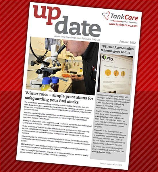 Tankcare Update Newsletter - Autumn 2012