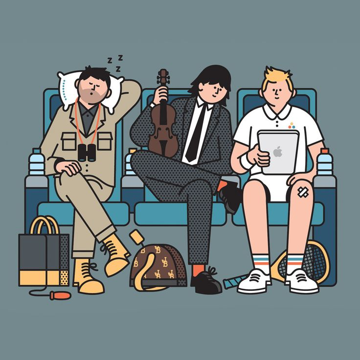 Here's a drawing I did recently for Men's Health magazine. It's Don Wildman, Joshua Bell and Andy Roddick sitting on a