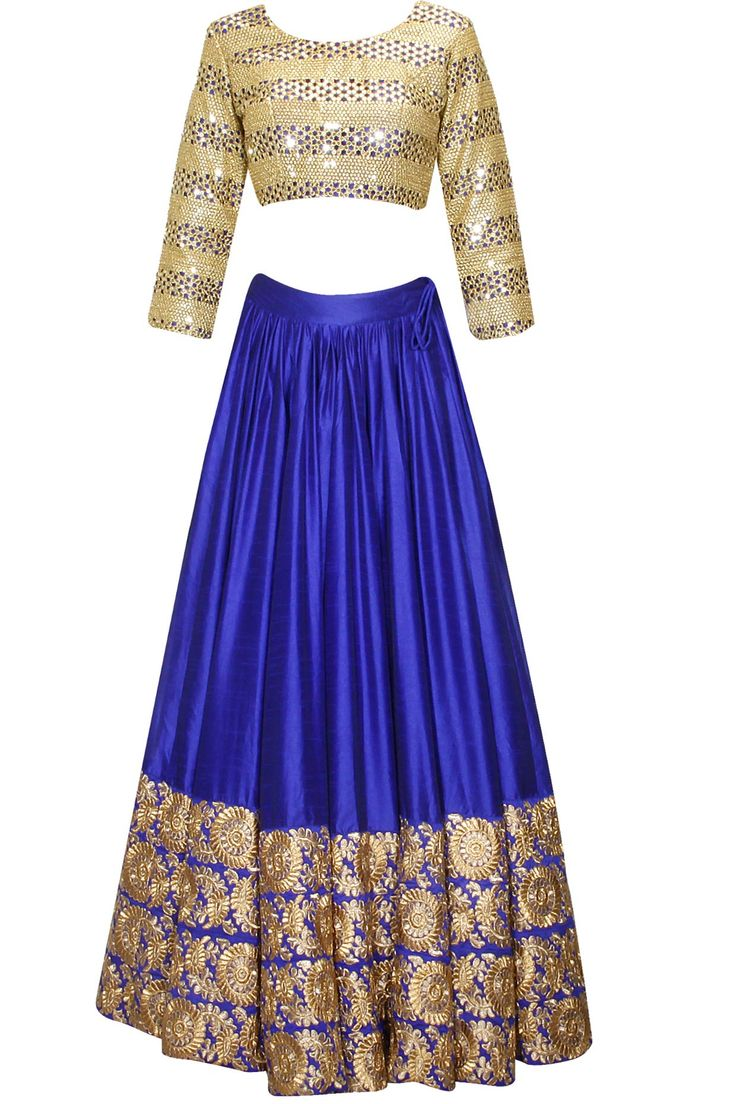 Blue mithu and sequins embroidered lehenga set availaible only at Pernia's Pop Up Shop..#perniaspopupshop #shopnow #surendribyyogeshchaudhary#clothing #festive #newcollection