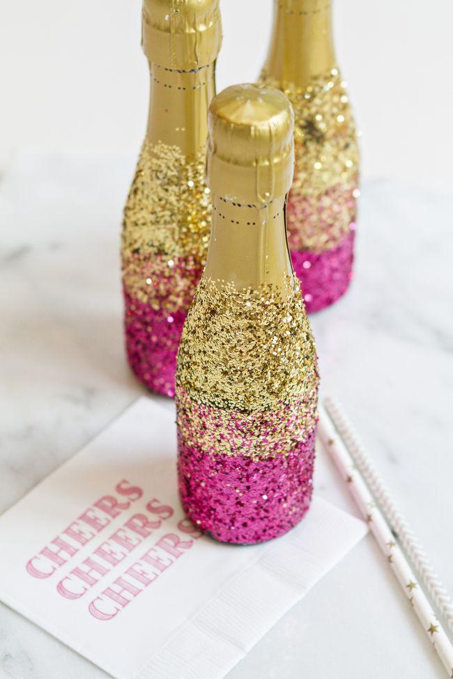 Best 25 glitter champagne bottles ideas on pinterest for Decorating wine bottles with glitter