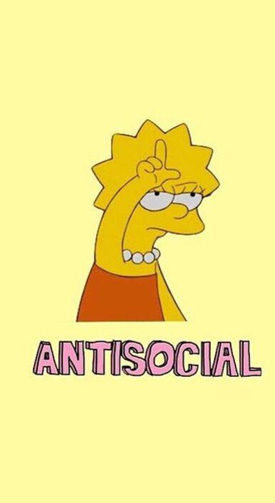 Lisa Simpson loser antisocial  Wallpaper ae in 2019  Aesthetic wallpapers Iphone wallpaper