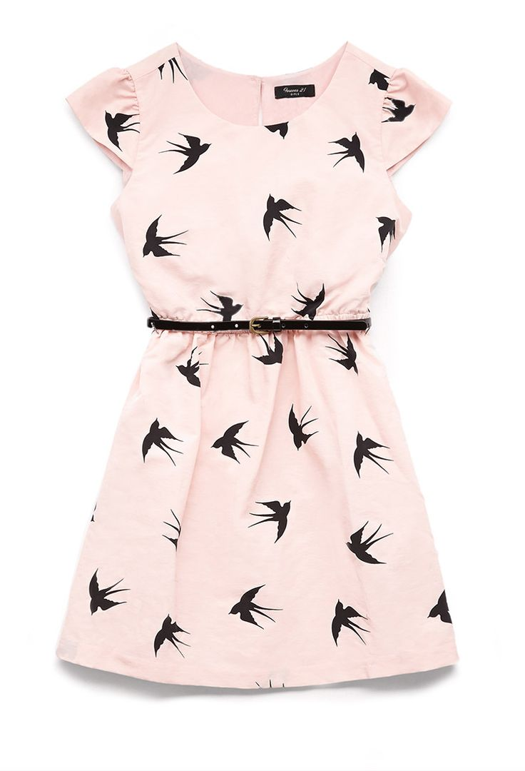 Darling Dove Dress w/ Belt (Kids) | FOREVER21 girls - 2000066521