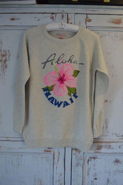 Aloha sweatshirt, Queene and Belle cashmere SS14