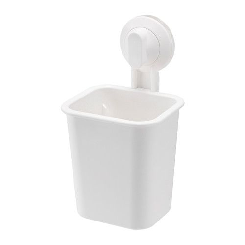 IKEA - STUGVIK, Toothbrush holder with suction cup, , The suction cup grips smooth surfaces.