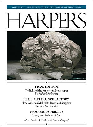 Goudy old style application example -Harper's Magazine
