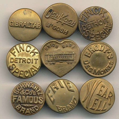 Beautiful Vintage Typography on Retro Workwear Buttons | From up North