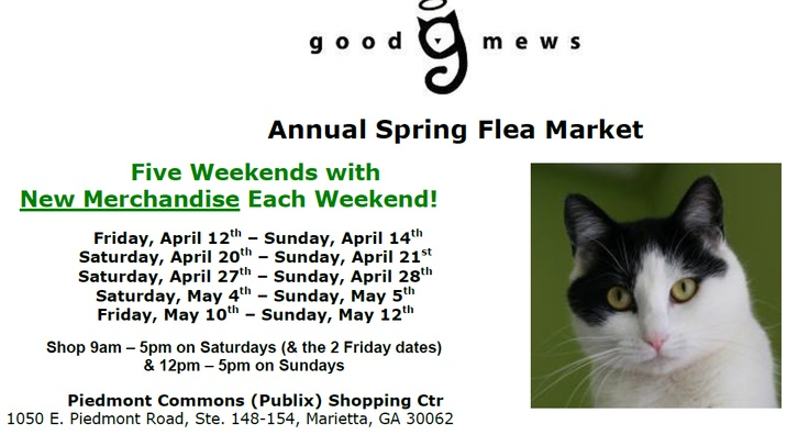 The Spring Flea Market is just around the corner! The top priority right now is collecting donated items to sell. Donated items will be accepted at the storefront on Saturdays from 10-2 & Sundays from 12-3 beginning Saturday, March 9th. A flyer with information on the types of donations we're seeking (and the sale) can be viewed here: http://goodmews.org/images/pdf_files/FM_flyer.pdf. Let your family, friends, neighbors, and co-workers know! http://www.goodmews.org