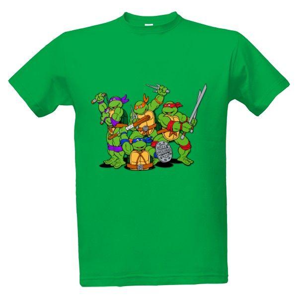 Tričko s potiskem TMNT - Želvy Ninja - Turtles