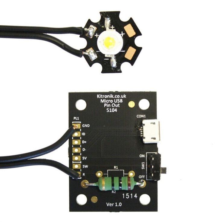 Micro USB Lamp Kit - 1W LED - 2152