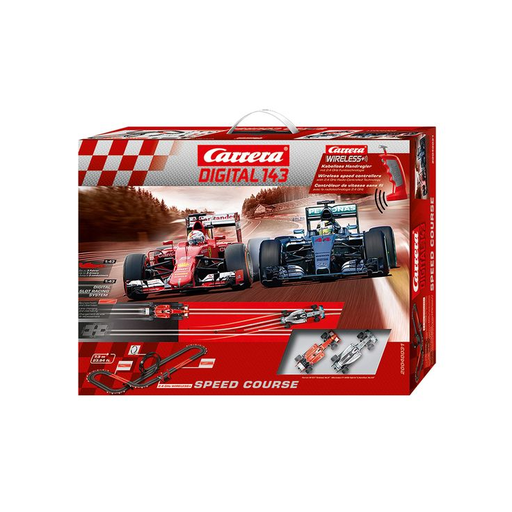 Carrera Speed Course Digital Slot Car & Wireless Remote Race Set, Multicolor