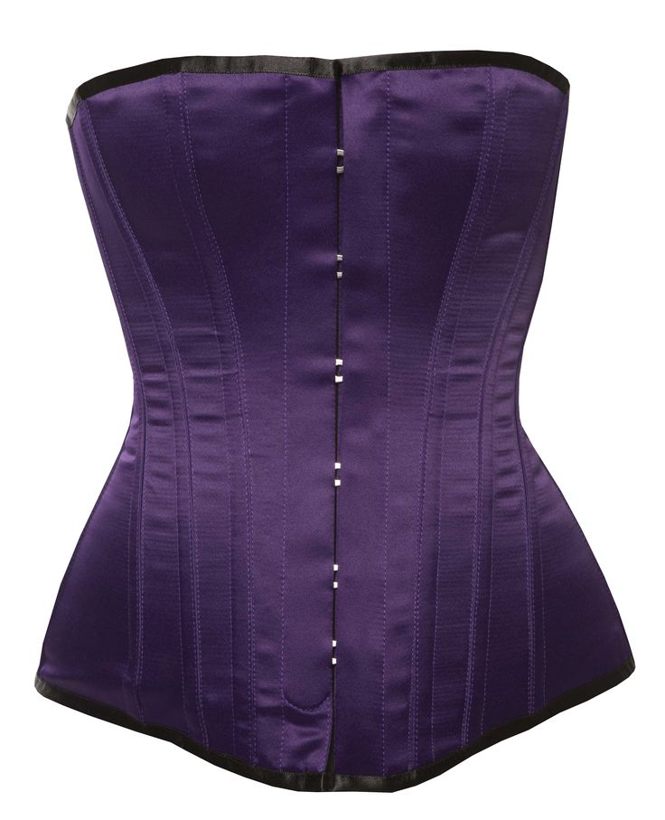 Harmony - Victorian Corsets -  Purple Satin by Vollers Corsets