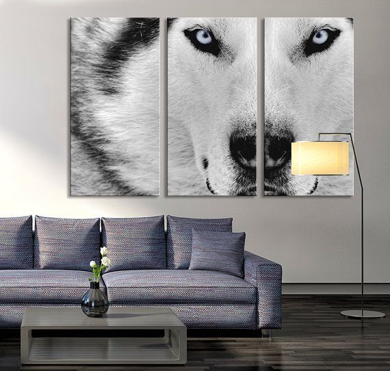 Canvas Print - Wild Wolf Canvas Art - Siberian Husky Canvas Print, Husky Print, Ready to Hanging