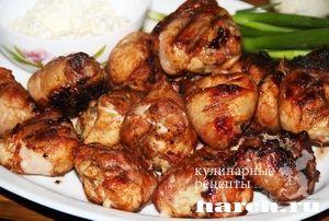 Куриные ножки на гриле chicken on a grill