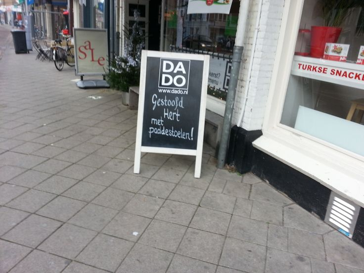 Arjen - DaDo, restaurant. Sterk: Duidelijk. Zwak: geen prijs en maar een gerecht wordt aangekondigd.