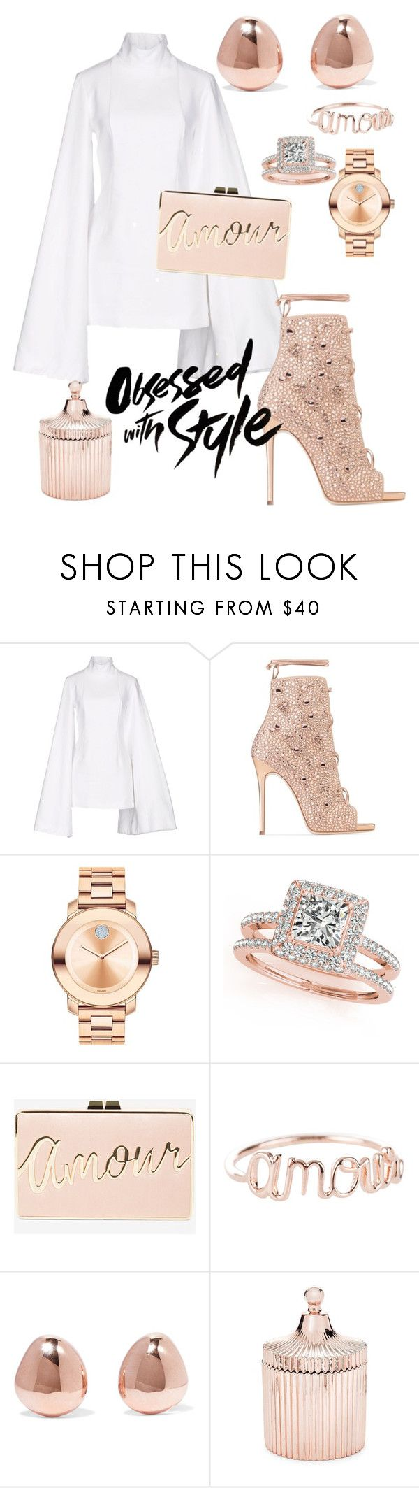 """""""Untitled #47"""" by neeneelondondesignz ❤ liked on Polyvore featuring Jacquemus, Giuseppe Zanotti, Movado, Allurez, BCBGMAXAZRIA, Monica Vinader and Saks Fifth Avenue"""