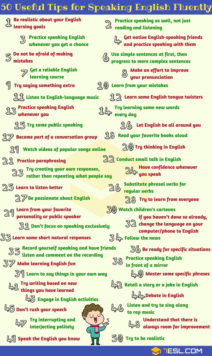 How To Speak English Fluently: 50 Simple Tips!! - 7 E S L   Speak english fluently, Learn english words, Learn english speaking