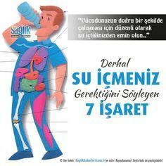 Derhal su içmeniz gerektiğini söyleyen 7 işaret!