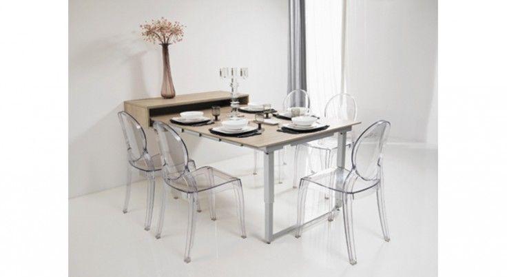 Tables De Cuisines Modulables Gain De Place Maison Travaux En 2020 Table Depliante Table Amovible Table Pliante Murale