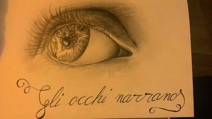 """the eyes tell"" one of my drawings."