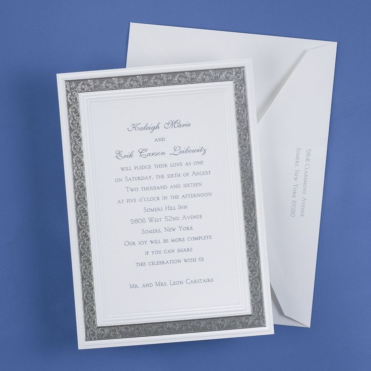 box wedding invitations online%0A Silver Lace Invitation  Wedding Invitations  Wedding Invites  Wedding  Invitation Ideas  View a Proof Online