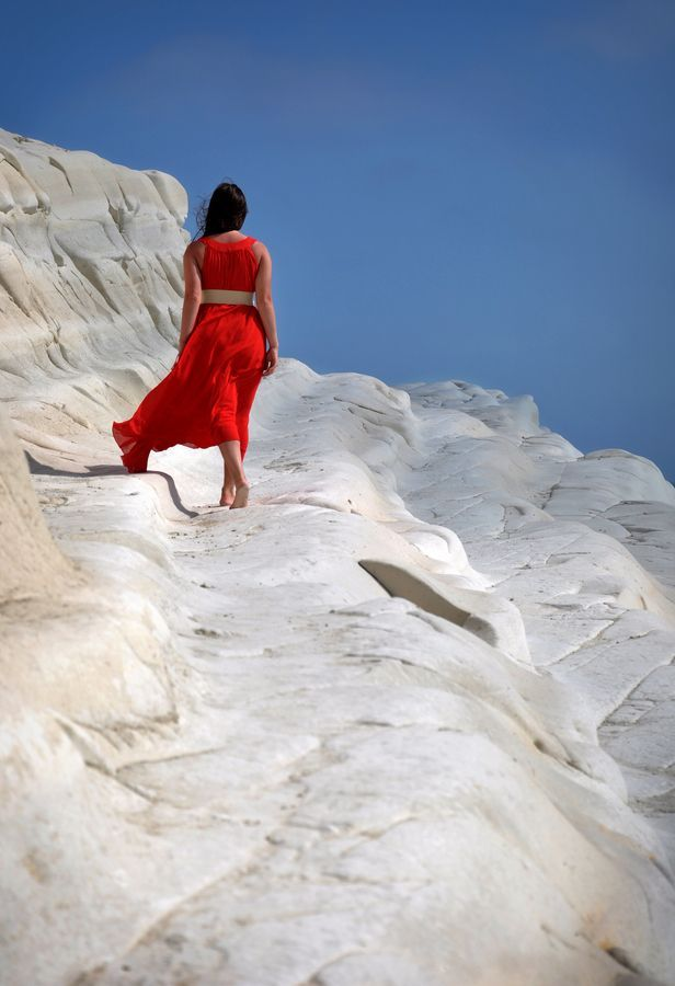 One of the strangest #white #beaches in the world and in #Sicily is the #Scala dei Turchi :) For more information have a look at bebtrapanilveliero.it