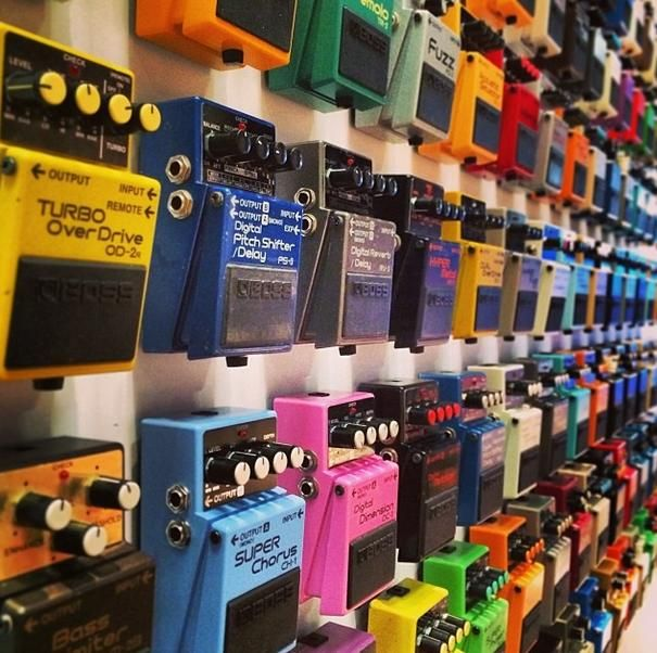 Might be preoccupied by these incredible BOSS pedals for a few hours... #namm #namm2014 http://www.instagram.com/dolphinmusicshop