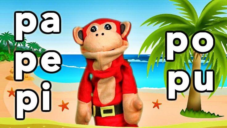 Sílabas pa pe pi po pu - El Mono Sílabo - Videos Infantiles - Educación ...