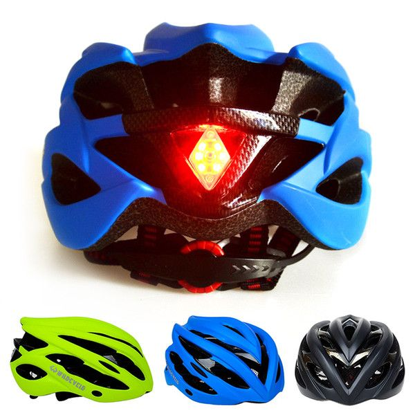 Cycling Helmet Ultralight Bicycle Helmet with LED Tail Light In-mold Road Bike Safety Helmet Head Protector Riding Accessories