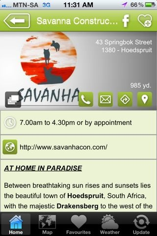 """Savanha Construction is a hAPPy business - a """"Construction and design"""" listing on the Hoedspruit Info App"""