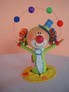 Mamãe que fez: Inspirações e passo a passo: Centro de mesa para festa circo