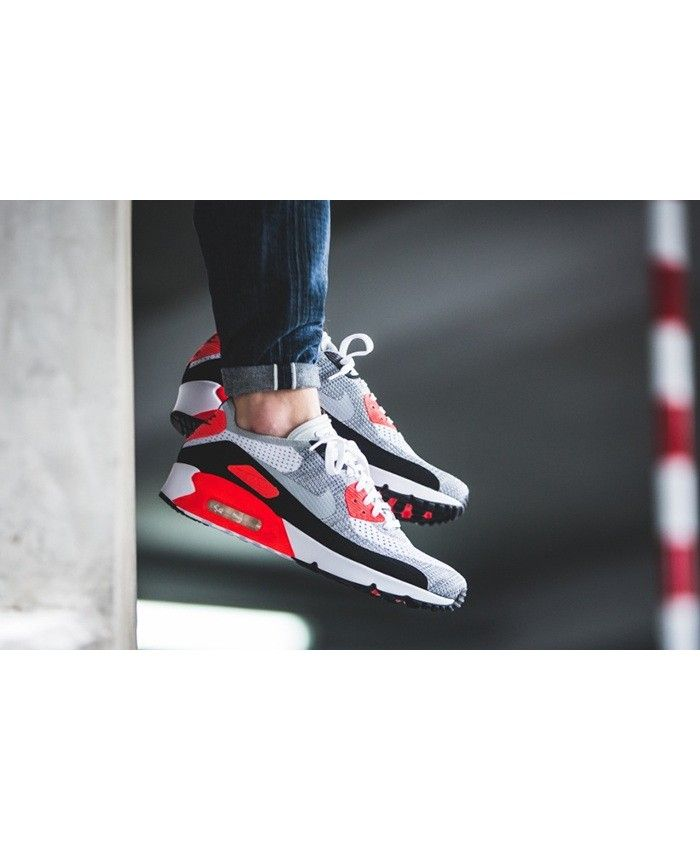 innovative design ca922 a2f5b ... discount nike air max 90 homme ultra 2.0 flyknit rouge blanche gris  29530 32195