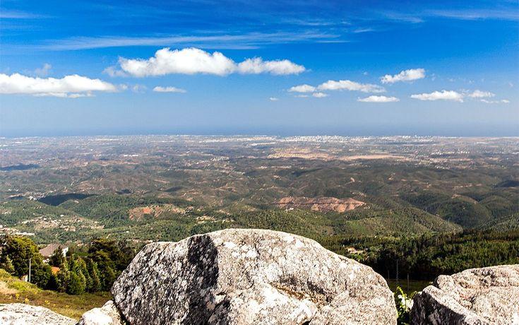 Panorâmica do Miradouro da Foia, Serra de Monchique, Algarve, Portugal