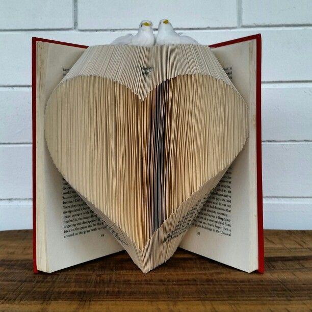 Lovely book art sculpture