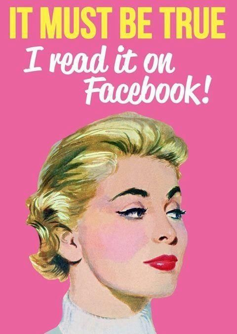 #Facebook Don't believe everything you read!                                                                                                                                                                                 More