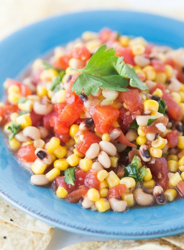 This delicious alternative to salsa is a time honored crowd pleaser! Great for cookouts, bbq events, or summer snacking!